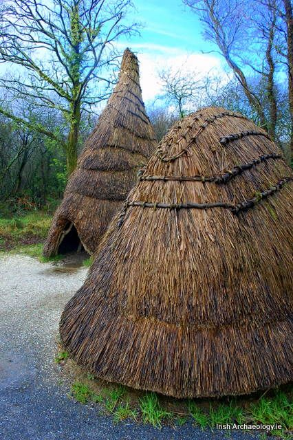 Reconstructed Mesolithic houses, Wexford, Ireland