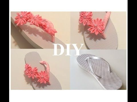 {DIY} Decorate Flip Flops with Ribbon and Beads - YouTube