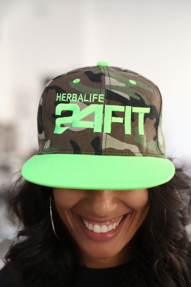 Herbalife 24 FIT snapback, camouflage/neon
