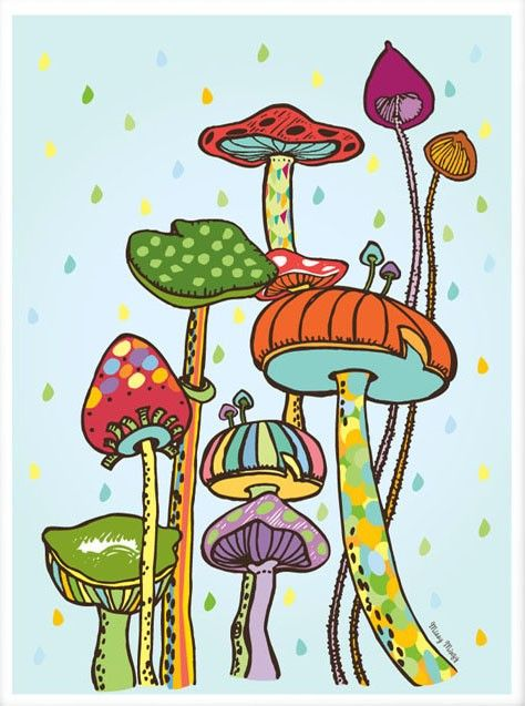 Items similar to Please Don't Eat Me, Kids Wall Art, Mushrooms, Nursery Art, Archival Art Print 8x10 on Etsy