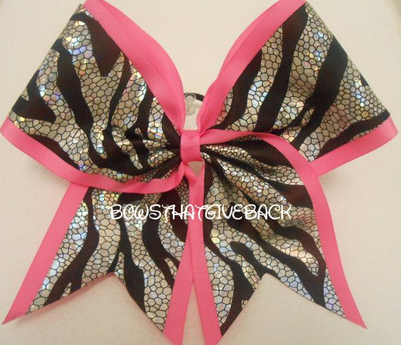 Cheer Bow by BowsThatGiveBack on Etsy,