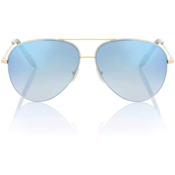 Victoria Beckham Classic Victoria Aviator Sunglasses (€255) ❤ liked on Polyvore featuring accessories, eyewear, sunglasses, blue, blue glasses, aviator sunglasses, victoria beckham glasses, victoria beckham and blue aviator sunglasses