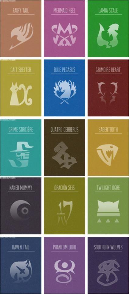 Fairy Tail Guild Symbols | Guild symbols in Fairy Tail | Logo &Symbol