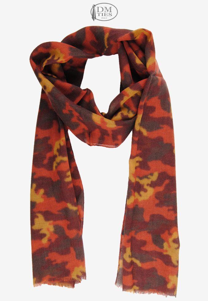 0SCZZ12c - Sciarpa lana arancione bordeaux - Sciarpe UOMO - Sciarpe Uomo/Donna