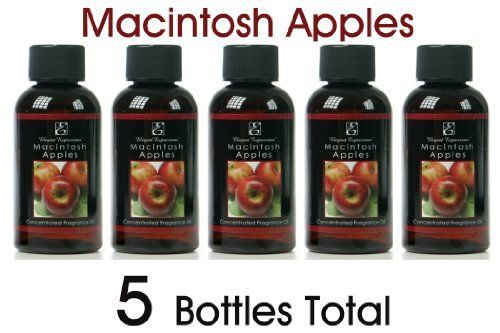 Elegant Expressions McIntosh Apples Warming Oils - Box of 5pc / 55 ml ea by Warming Oils. $11.50. 5 bottles per box. 55 ml per bottle. Use with oil warmers or to refresh potpourri. Highly Fragrant. Highly fragranced McIntosh Apples 55 ml Warming Oils. Use these highly fragrant oils with your warmer to fill your room with a pleasant aroma. Can also be used to refresh your potpourri. Box of 5pc.