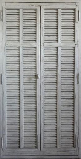 Louvre doors Paint patina finish. Decorative cupboard doors . Portes Antiques - french manufacturer, restoring and creation