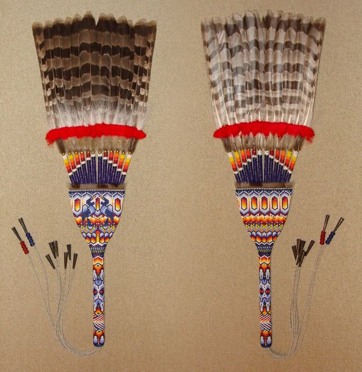 100 Best Native American Flat Feather Fans Images On