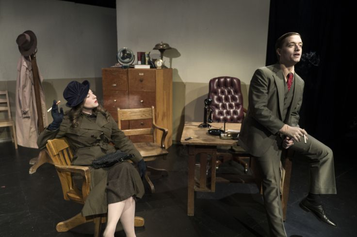 Vintage office furniture available to rent through Bygone Theatre.
