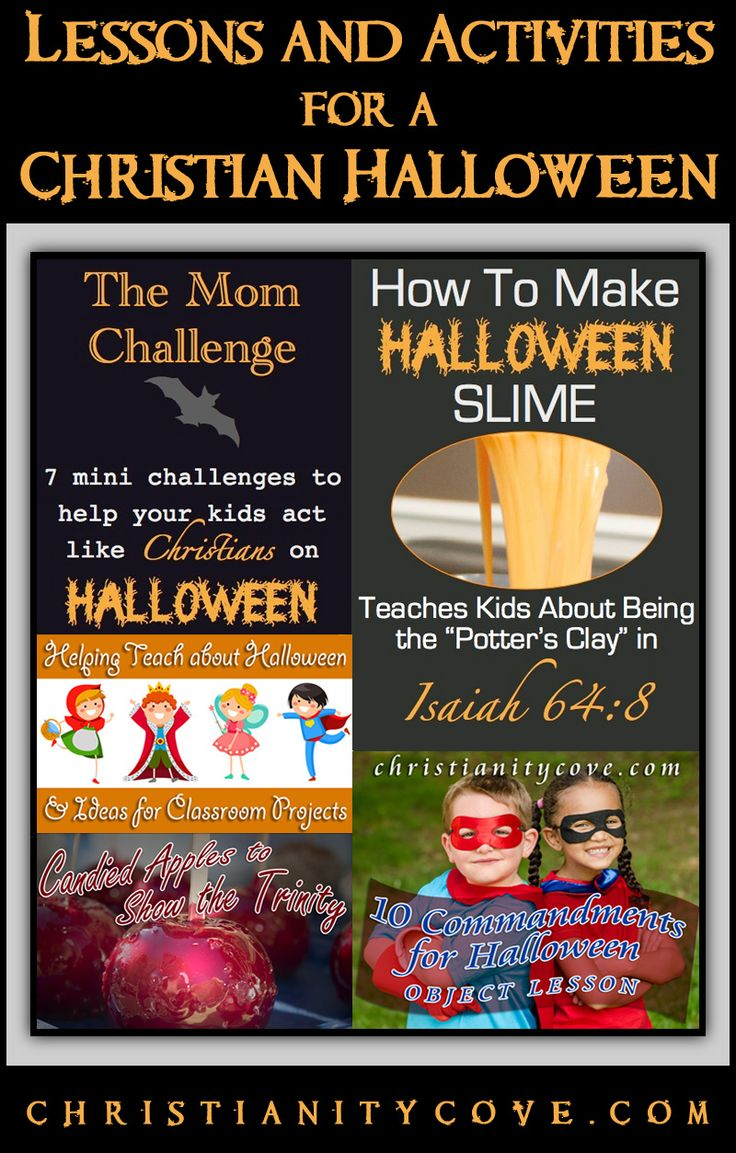 If you're looking for some fun ways to bring your Christian faith into the Halloween season, you have to check out these awesome lessons and activities for a Christian Halloween!