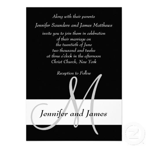 16 best wedding invitations images on pinterest invites card wedding invitation monogram black and white stopboris Choice Image