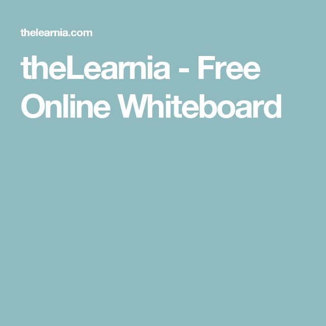 theLearnia - Free Online Whiteboard