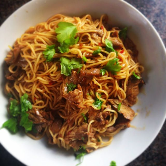3 minute Beef Noodles