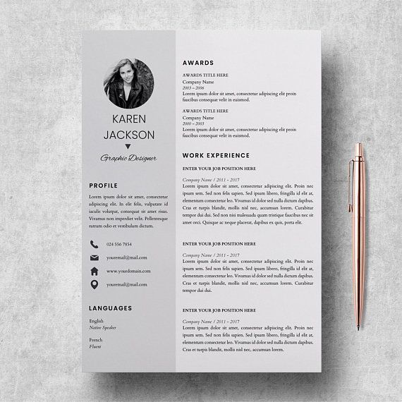 Modern Resume Template For Pages Cv Template For Microsoft Word Cover Letter Cover Cv L Resume Design Template Modern Resume Template Resume Template
