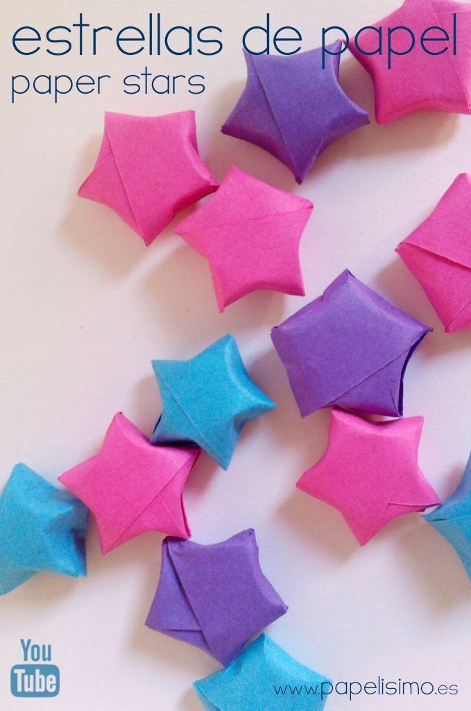 M s de 25 ideas incre bles sobre estrellas de papel - Mas manualidades faciles ...