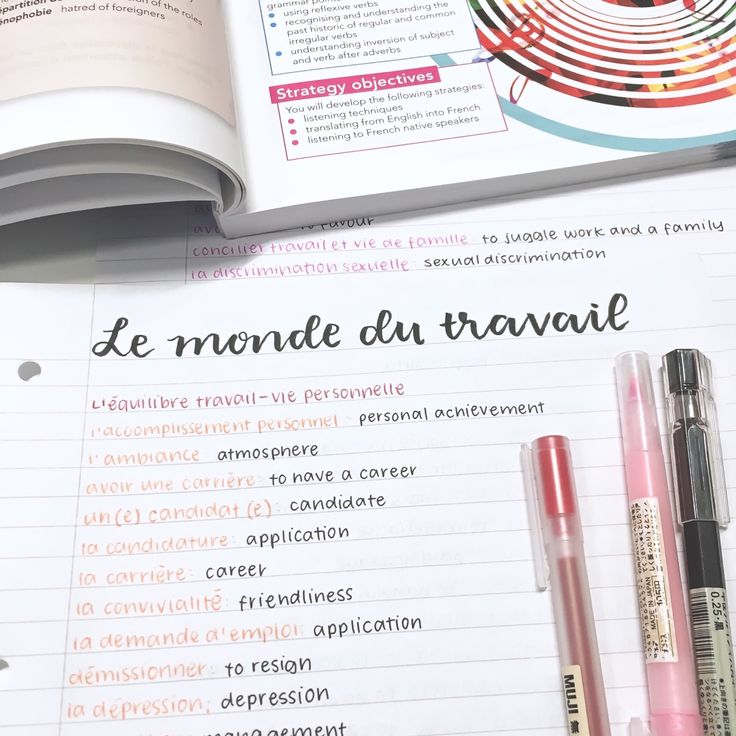 peachystudy: french vocab galore!!! ig:... - studyblr with a love for lush