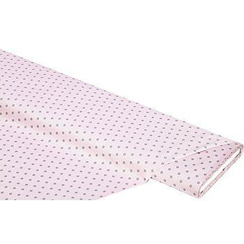 """Baumwollstoff """"Tupfen"""", rosa/grau, aus besonders feiner und weicher Baumwolle, Größe Tupfen: ca. 5 mm Ø, Breite: 140 cm, Gewicht: ca. 125 g/m2.Der Baumwollstoff mit den süßen Tupfen ist ein absolutes Kombitalent. Er nimmt sich dezent zurück und lässt sich prima mit vielen anderen Designs kombinieren. Pünktchenmuster sind nicht nur für Quilt- und Patchworkarbeiten beliebt, sondern sorgen auch bei Bekleidung, Accessoires und Homedeko f&..."""
