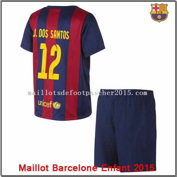 Nouveaux Maillot Barcelone Dos santo junior 2014 2015 Domiciprix