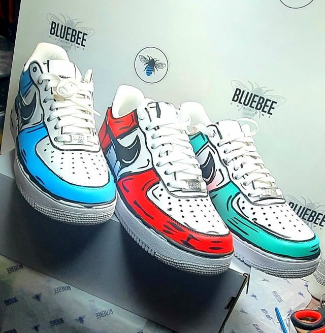 Nike Air Force 1 Cartoon Custom In 2020 Nike Hype Shoes Af1 Shoes