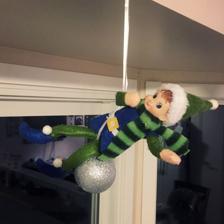 He came in like a wrecking ball... #adventuresoffrecklestheelf #elfontheshelf #wreckingballelf #mykidswontgetit #thatmakesitevenfunnier