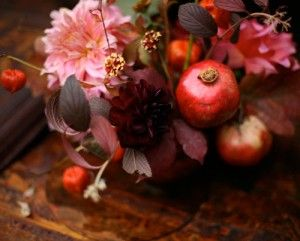 Love this romantic fall floral arrangement!