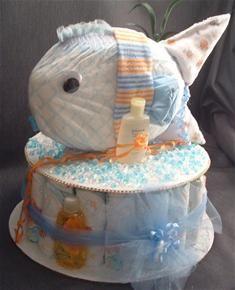 Fishy Diaper Cake