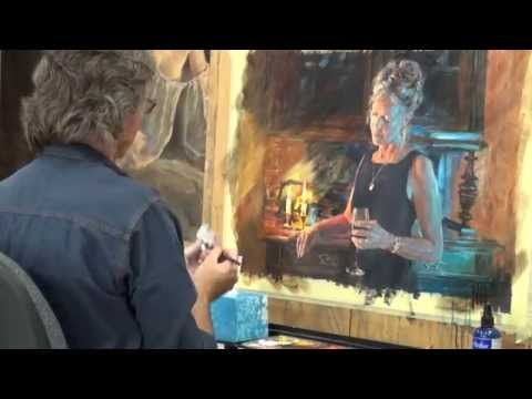 Barry McCann - Colour In Your Life  acrylics--painting tips talks about mediums