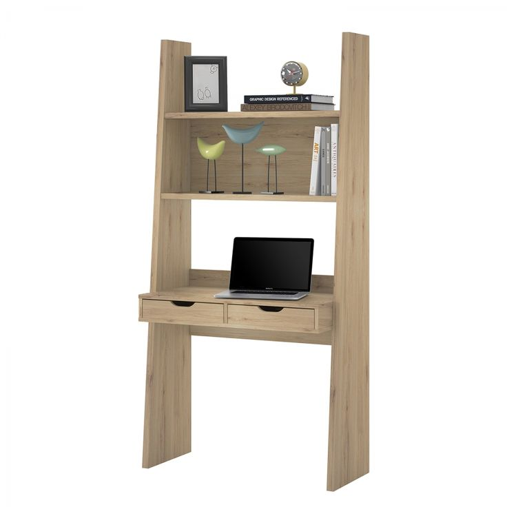 Regal-Schreibtischkombination Verno - Eiche Sanremo Dekor