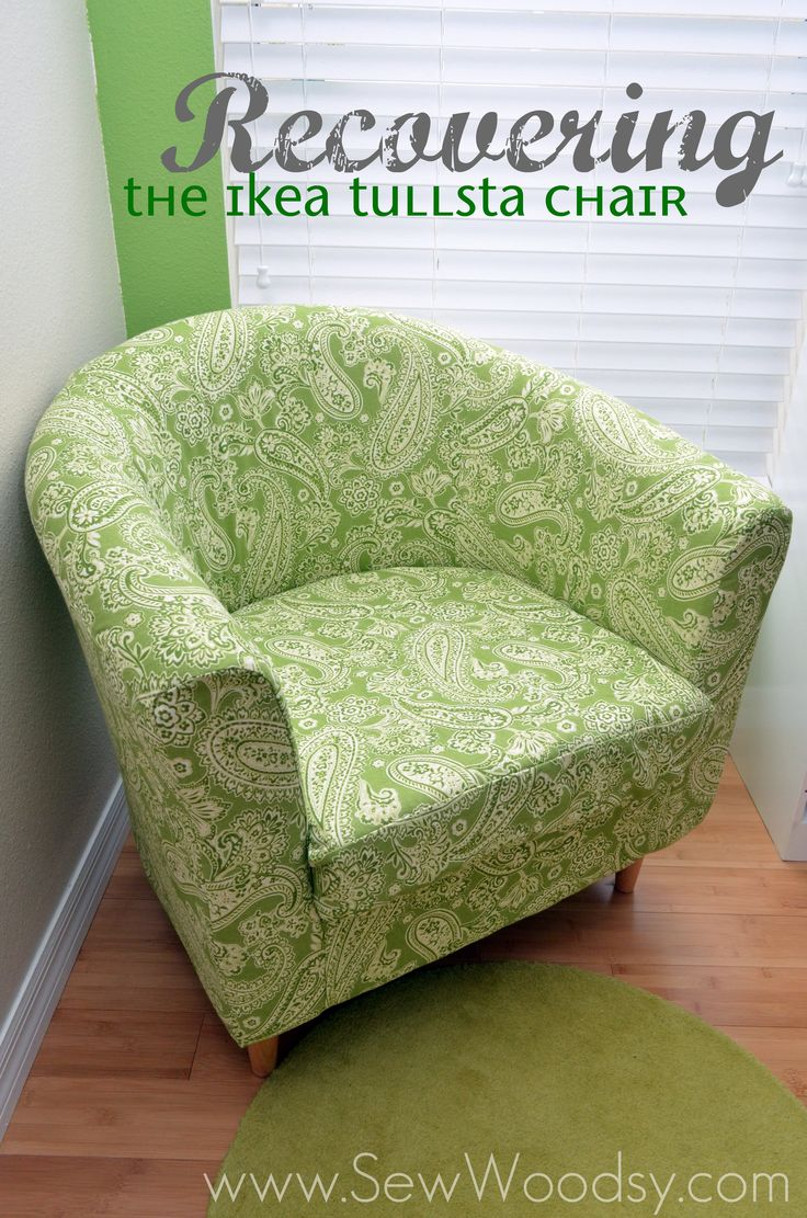 I have this chair and I'm sure I'll need this one day...Recovering the Ikea Tullsta Chair
