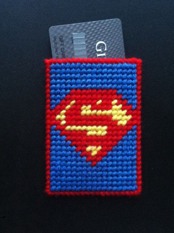 Superman Gift Card Holder Superman gifts by TinetinesCreations