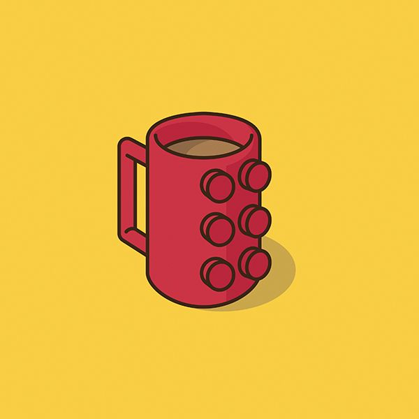 This is fun, silly Instagram series that lasted a bit over a month. I was exploring the iconography of modern day pop culture and its recognizable forms when molded into a mug of delicious caffeinated perfection.