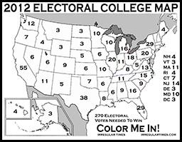 Best Electoral College Map Ideas On Pinterest Electoral - Us electoral map giant printable