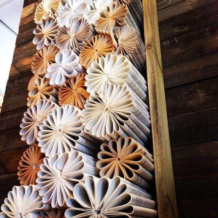 Unsere Lieblingskunst aus recycelten Büchern, Kunsthandwerk, Upcycling, Wanddekoration