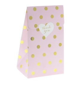 Party treat boxes, made with premium semi-gloss cardboard are perfect for lolly bags, party/wedding favours, gifts, candy and much more. Each pack includes 12 t