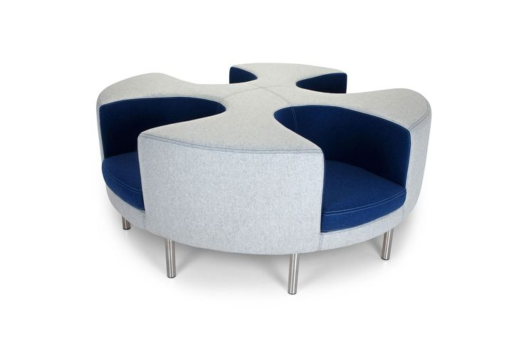 Circularso by Adrenalina Ultramodern, elegant centrepiece for your living room. This sofa is made out of metal and reliable fabric in sober colours such as blue and grey. Very original, unique and contemporary piece.  My Italian Living