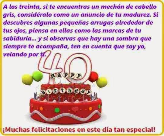 40 cumpleaños feliz disfrútalos