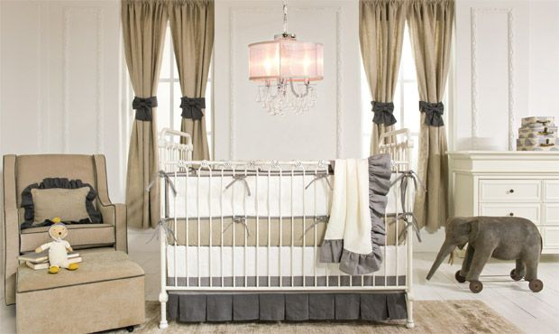 Classic beauty and elegant lines frame this space in an enduring appeal. The neutral palette works perfectly, blending textures and colors to create a well appointed nursery.
