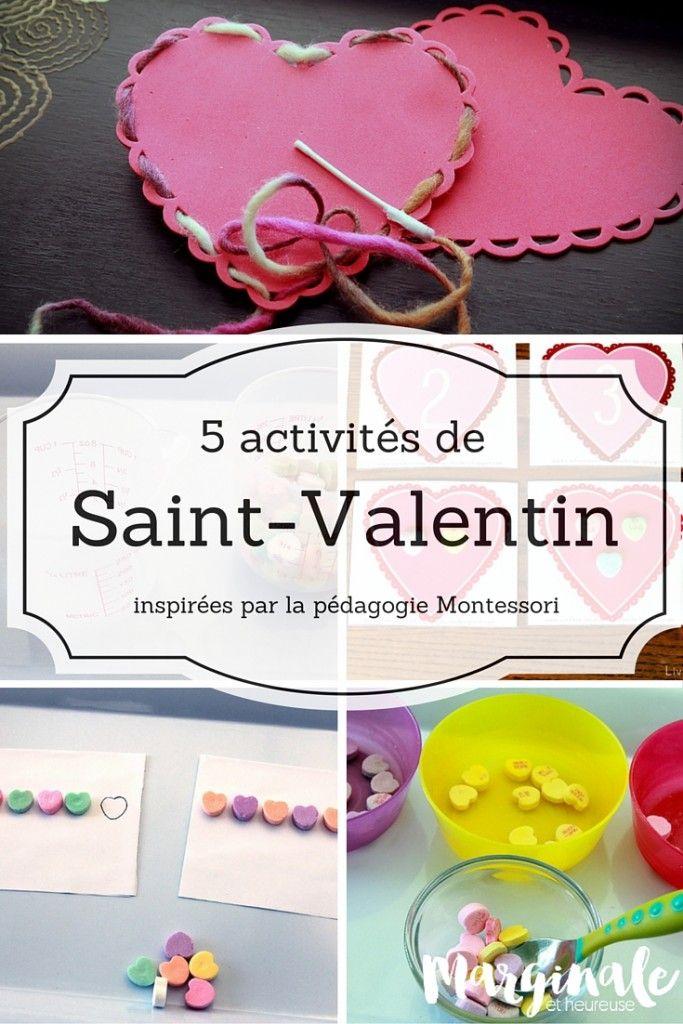 5 activités de Saint-Valentin inspirées par la pédagogie Montessori
