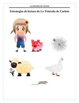 A comprehensive analysis about the characters from Charlotte's Web.  The student will analyze the main idea about the book, will explore the setting, and will follow sequence of events to summarize the story.  As an extra activity will analyze the farm animals and their role in our food chain.Es un analisis comprensivo acerca de los personajes de La telaraa de Carlota.