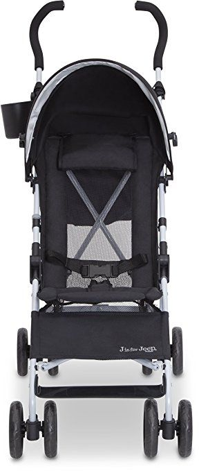Amazon.com : J is for Jeep Brand North Star Stroller, Black/Grey : Baby