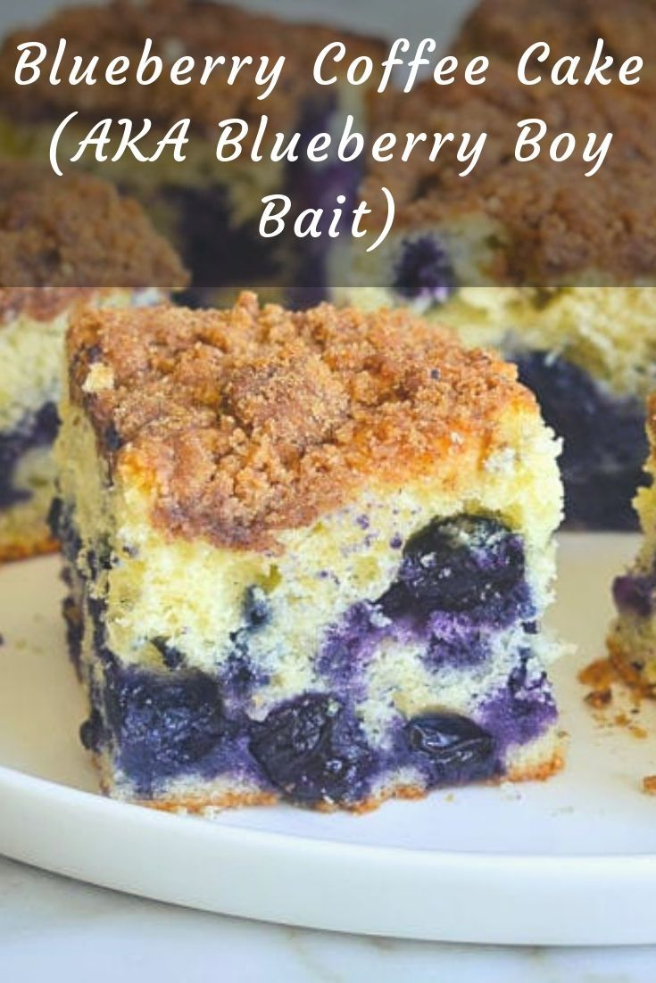 Blueberry coffee cake aka blueberry boy bait with