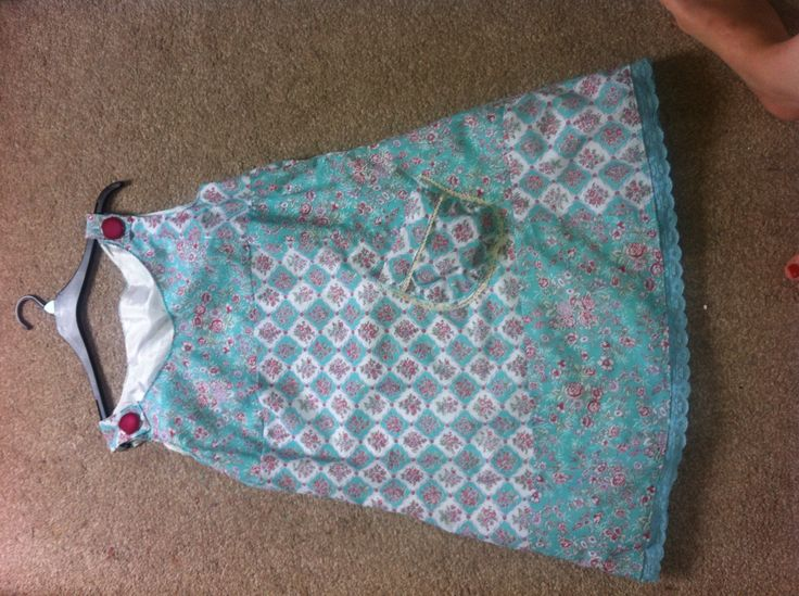 Pinafore dress made with a little Creativity !