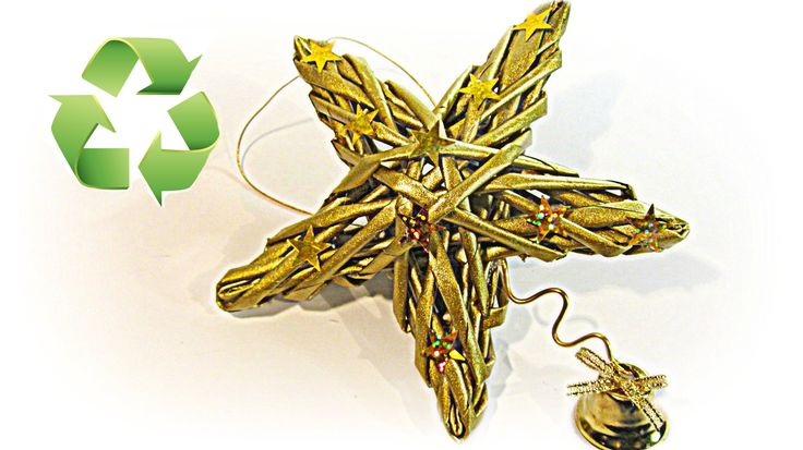 Cómo hacer estrellas tejidas de papel. Woven stars