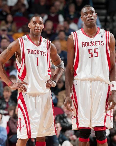 Houston Rockets Tracy McGrady, Dikembe Mutombo
