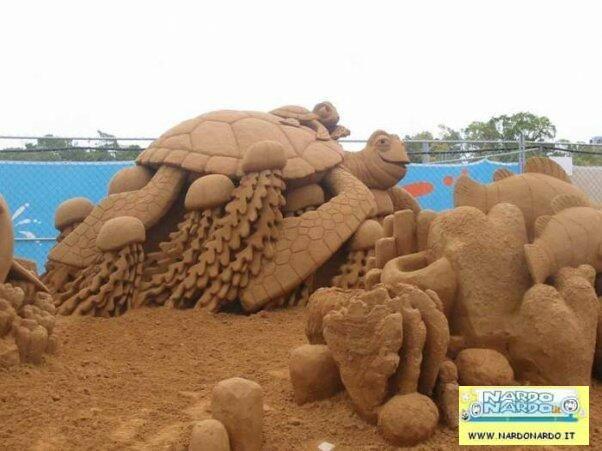 castello di sabbia nemo