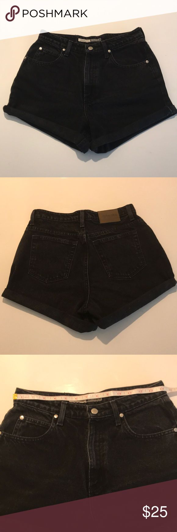 """Vintage cut off shorts True vintage jeans! These """"Mom"""" shorts are high waisted and relaxed through hip and thigh. See pics for measurements. Can be worn cuffed or unrolled with a frayed hem. (Inseam app. 3.5"""" when unrolled). These are vintage, so there may be some fading, fraying, etc. which is part of the vintage look. Shorts"""