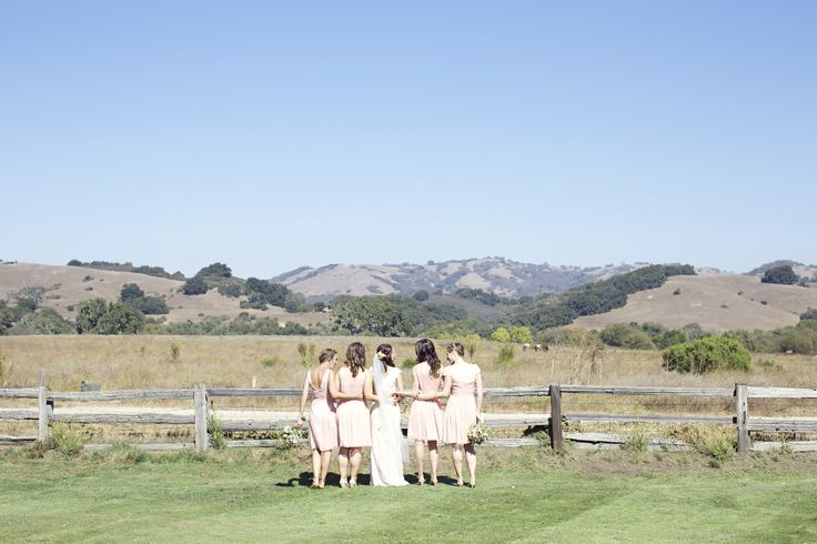 Photo by: Jo Ann Manolis Photography Venue: Santa Lucia Preserve Planning & Design: Coastside Couture Floral: Laughin' Gal #CoastsideCouture  #CarmelWeddings #hillview #bridemaids #bride #greengrass #preserve #weddingday