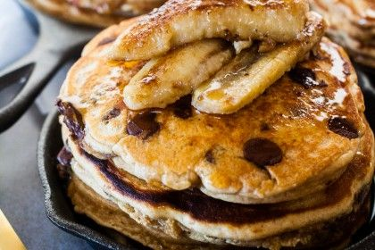 "Whoever invented pancakes was a genius. Think about it: it's a cake ""baked"" in a pan, ready in a matter of minutes. It's cake for breakfast, and who doesn't want cake for breakfast! Cake for breakf…"