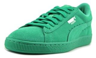 Puma Suede Jr Youth Round Toe Suede Green Sneakers.
