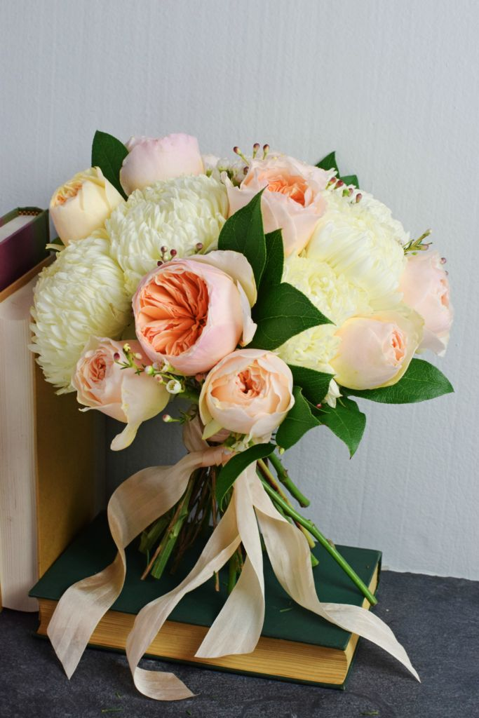 Peach Garden Rose Bouquet 26 best flower moxie diy bouquets images on pinterest | bridal