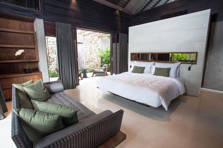 Warm and comfortable guest rooms are individually housed along the garden path of Villa Jamadara. #semarauluwatu #bali